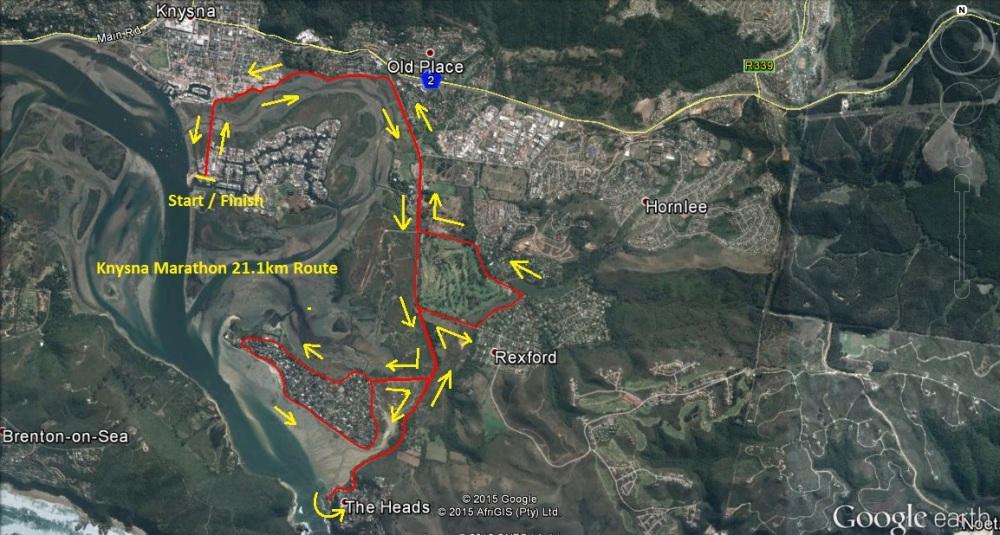 Knysna Heads Marathon 21.1 Km