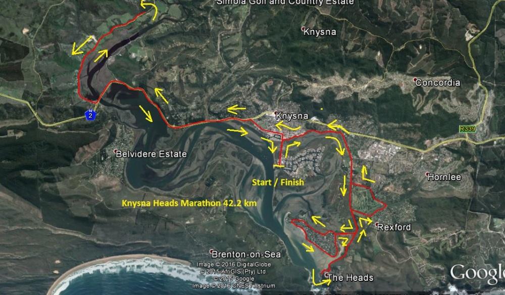 Knysna Heads Marathon 42.2 Km